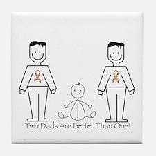 2 Dads (LGBT) Tile Coaster