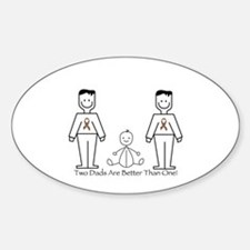 2 Dads (LGBT) Decal