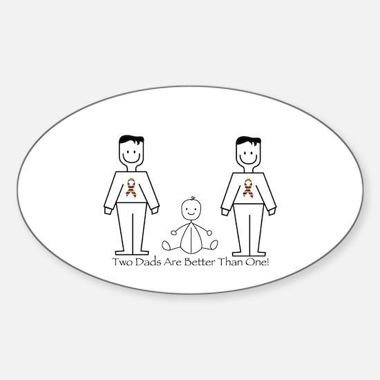 2 Dads (LGBT) Sticker (Oval)