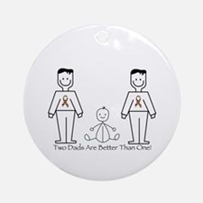 2 Dads (LGBT) Ornament (Round)