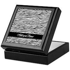 Add NAME Zebra Stripes Keepsake Box