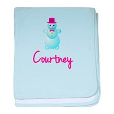 Courtney the snow woman baby blanket
