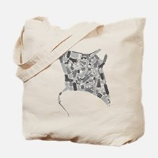 Cute Manta ray Tote Bag