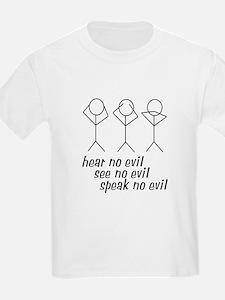 Hear No Evil Stick Figures T-Shirt
