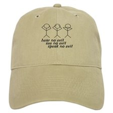 Hear No Evil Stick Figures Baseball Cap