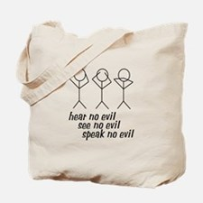 Hear No Evil Stick Figures Tote Bag