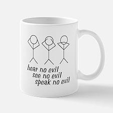 Hear No Evil Stick Figures Mug