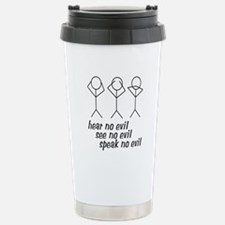 Hear No Evil Stick Figures Travel Mug