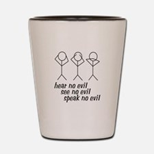 Hear No Evil Stick Figures Shot Glass