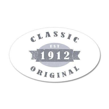 1912 Classic Original 22x14 Oval Wall Peel