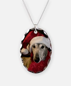 Santa Greyhound Necklace