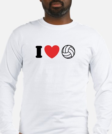 I Love Volleyball Long Sleeve T-Shirt