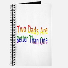 2 Dads Better (rainbow) Journal