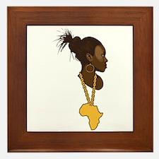 Mother Africa Framed Tile