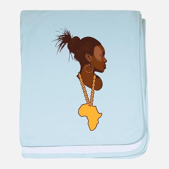 Mother Africa baby blanket