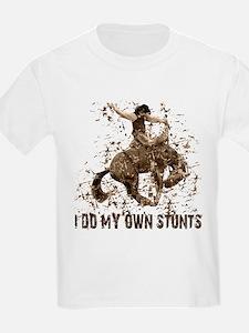 Bronco Rodeo Cowboy, Stunts Kids T-Shirt