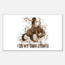 Bronco Rodeo Cowboy, Stunts Rectangle Decal