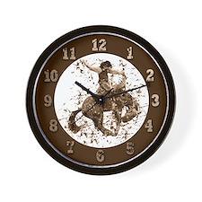 Bronco Rodeo Cowboy, Stunts Wall Clock