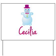 Cecilia the snow woman Yard Sign
