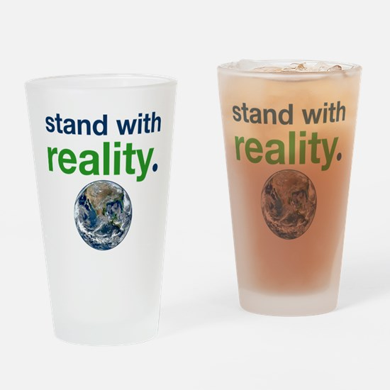 Stand With Reality Drinking Glass
