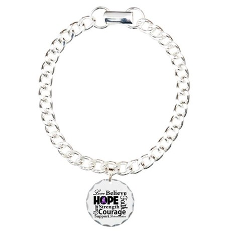 Pancreatic Cancer Hope Charm Bracelet, One Charm