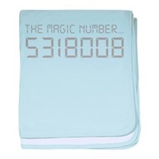 The Magic Number baby blanket