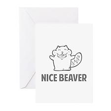 Nice Beaver Greeting Cards (Pk of 10)
