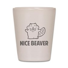 Nice Beaver Shot Glass