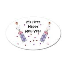 Baby's First New Year 35x21 Oval Wall Decal
