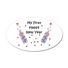 Baby's First New Year Wall Decal