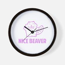 Nice Beaver Wall Clock