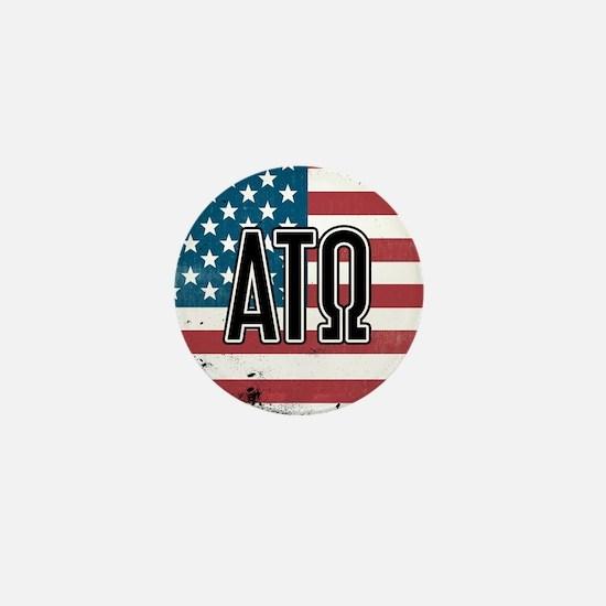 Alpha Tau Omega Flag Mini Button