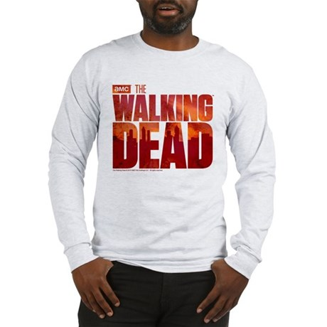 The Walking Dead Blood Logo Long Sleeve T-Shirt
