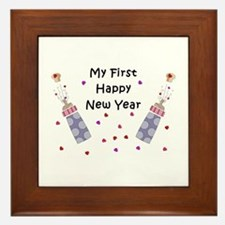 Baby's First New Year Framed Tile