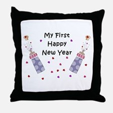 Baby's First New Year Throw Pillow