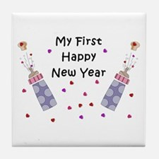 Baby's First New Year Tile Coaster