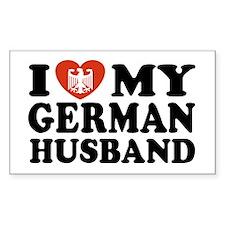 I Love My German Husband Rectangle Decal