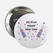 """Baby's First New Year 2.25"""" Button (100 pack)"""