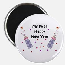 """Baby's First New Year 2.25"""" Magnet (10 pack)"""