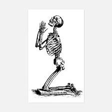 Praying Skeleton Rectangle Decal