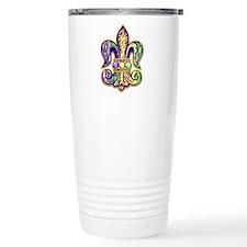 Mardi Gras Tiger Fleur de lis Travel Mug