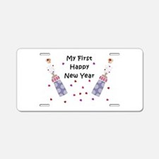 Baby's First New Year Aluminum License Plate