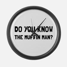 Do You Know The Muffin Man Large Wall Clock