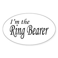 I'm the Ring Bearer Oval Decal