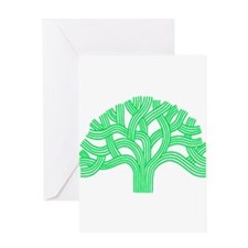 Oakland Tree Lim Green Greeting Card
