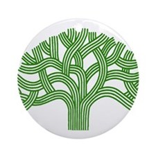 Oakland Tree Green Ornament (Round)