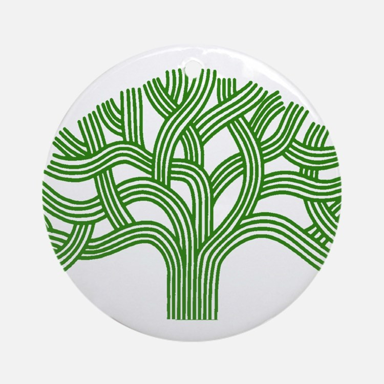 Oakland Tree Green Ornament (Round)