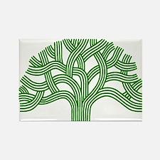 Oakland Tree Green Rectangle Magnet