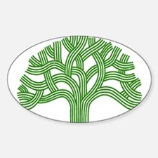 Oakland Tree Green Sticker (Oval)
