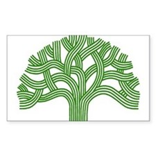 Oakland Tree Green Decal